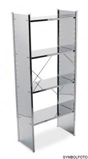 Graepel High Tech Ständer mit Kreuz aus poliertem Edelstahl für das H2 Regalsystem