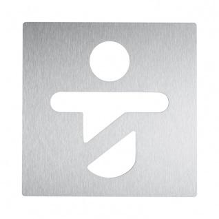 Wagner-EWAR Piktogramm Kind AC420 Edelstahl matt geschliffen