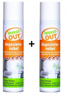 2er Set Insect-OUT® Ungeziefernebel 400 ml Nebelautomat für eine sofortige Wirkung