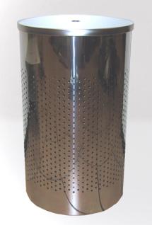 Graepel G-Line Pro hochwertiger Wäschebehälter Twin aus poliertem Edelstahl 1.4016
