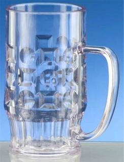 SET 12 St. Bier Krug 0, 5l SAN Glasklar Kunststoff Spülmaschinen fest, lebensmittelecht - Vorschau 2
