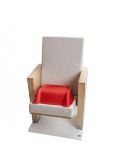 SET 36 Stk. Kunststoff PVC stabile Cinema Seat Sitzerhöhungen für Kinder in rot - Vorschau 3