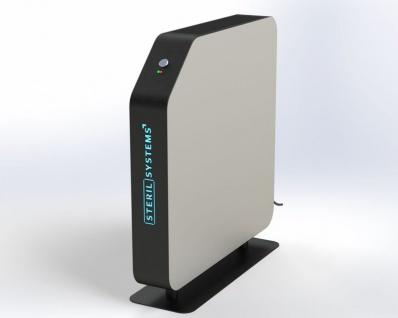 Umluftentkeimungsgerät ULE500 von Sterilsystems mit Standfuß oder Deckenhalterung