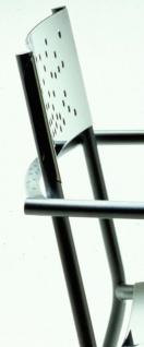 Tempesta hochwertiger Outdoor Armstuhl aus Edelstahl 1.4016 silber lackiert und behandelt - Vorschau 2