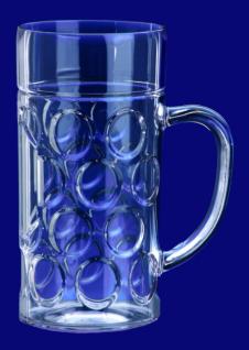 Maß Krug 1l SAN Glasklar aus Kunststoff Spülmaschinen fest und lebensmittelecht - Vorschau 1