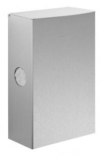Wagner-EWAR Hygiene-Abfallbehälter+Schleuse 5l WP177-1 Edelstahl für Aufputzmontage