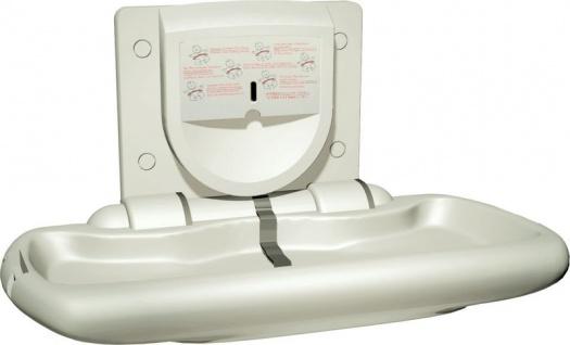 Baby Wickelstation horizontal klappbar von ASI. Aufputz, mit Sicherheitsgurt