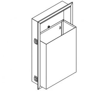 Franke Abfallbehälter RODX605E 23L aus Chromnickelstahl zur Unterputzmontage - Vorschau 2