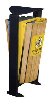 Rossignol Arkea Abfallbehälter 2 x 60L aus Holz mit Standfuss in 3 Farben erhältlich