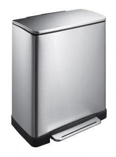 Recycling-Tritt-Mülleimer E-Cube 28+18 Liter, EKO