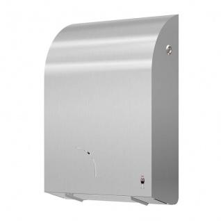 Dan Dryer Toilettenpapierhalter aus gebürstetem Edelstahl mit Verriegelung - Vorschau