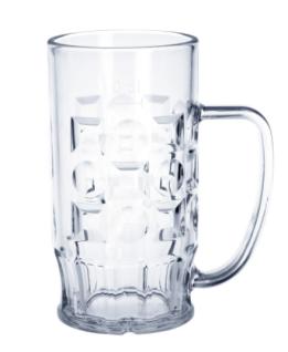 SET 56 St. Bier Krug 0, 4l SAN Glasklar Kunststoff Spülmaschinen fest, lebensmittelecht