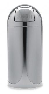 Graepel G-Line Pro OCTOPUSH Abfalleimer aus poliertem Edelstahl 1.4016, 2 Größen