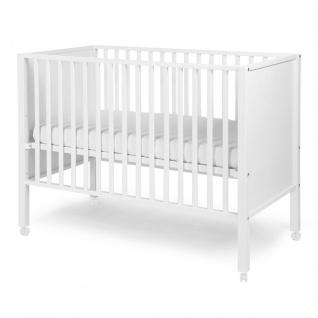 Childhome Bett Ref 22 Geschlossen Buche Weiss 60X120 + Räder