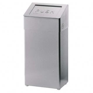 Dan Dryer Classic Design Abfallbehälter 50L aus gebürstetem Edelstahl