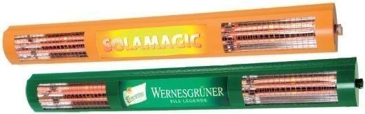 Solamagic Licht-Wärme Heizstrahler Gerät mit Werbung - Preis auf Anfrage!