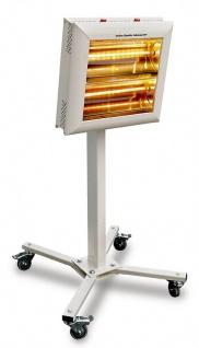 Infrarot Mobile Heizstrahler Weiß Helios Robot 3000W mit IP 20 Höhenverstellbar von Infralogic