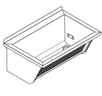 Franke Universalwaschtrog CA210/2 zur Wandmontage aus Edelstahl - Vorschau 2