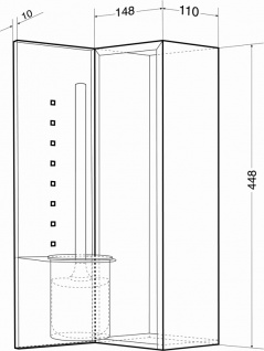 Wagner-EWAR Bürstengarnitur geschlossen WP161 Edelstahl für Unterputzmontage - Vorschau 2