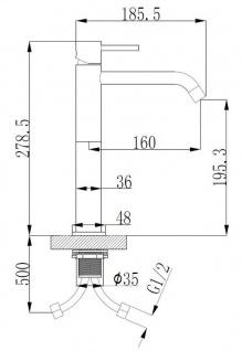 Wasserhahn Style XL mit Bedienhebel von Wiesbaden in Chrom oder Schwarz - Vorschau 3