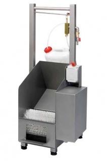 Gamar Schuhputzmaschine Shoe Cleaner aus Edelstahl mit Nylondrehbürsten