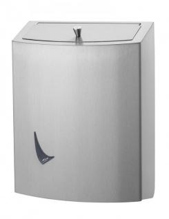 Wings Abfallbehälter geschlossen erhältlich in 9L, 20L und 56L aus Edelstahl