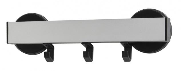 Wandgarderobe 3, magnetisch Grau, Schwarz