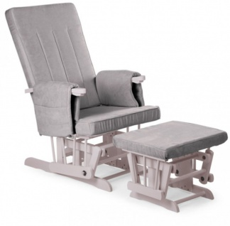 Childhome Design Stillstuhl mit Fußstütze - Grau - Vorschau