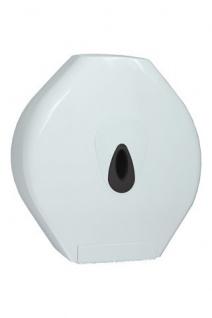 PlastiQline Maxi Großrollenhalter aus weißem Kunststoff zur Wandmontage