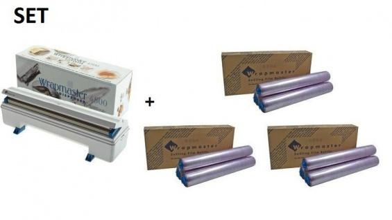 SET Effizienter Wrapmaster Spender WM4500 und + 3 Pack. Frischhaltefolie 4500 - Vorschau