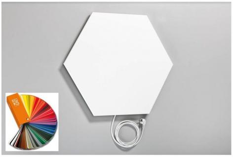 Infrarot Heizkörper Deckenmontage 500W - Gratis in alle RAL-Farben - Elbo Therm Hexagon 6-Eck