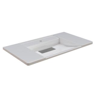 Franke EXOS. einzelner Waschtisch - Standard aus kunstharzgebundenem Mineralwerkstoff MIRANIT 900 mm breit