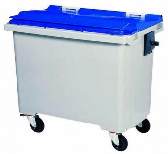 Rossignol Mülltonne ohne Schiene mit 4 Rädern entspricht der Norm EN-840 1 bis 6 - Vorschau 5