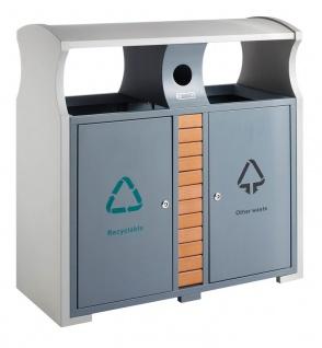 Abfallbehälter für Abfalltrennung draußen
