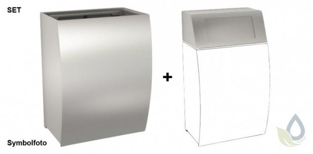 Set Franke Abfallbehälter STRX607 und Klappdeckel STRX608 zur Aufputzmontage