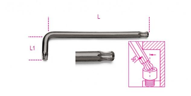 Beta Stiftschlüssel mit kugelförmigem Kopf, für Torx®-Schrauben 97BTX