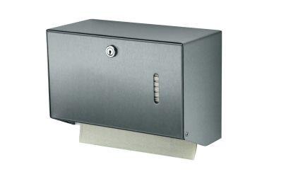 MediQo-line Kleiner abschließbarer Papierhandtuchspender zur Wandmontage aus Aluminium oder Edelstahl - Vorschau 3