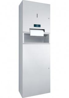 Wagner-EWAR Kombination Papierrollenspender und Abfallbehälter 48l Batteriebetrieb WP5456 Edelstahl für Aufputzmontage