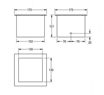 Franke Abfall Abwurfhülse für Tischmontage aus Chromnickelstahl 0, 8mm - Vorschau 2