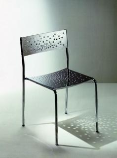 Graepel Tempesta erstklassiger Outdoor Stuhl aus Edelstahl 1.4016 silber lackiert und behandelt