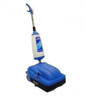 CIMEL Turbolava Facile 35 blauer Bodenwäscher mit 2 Bürsten und Wischer 640 Watt