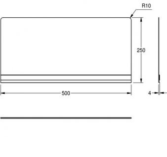 Franke aufsteckbare Rückwand für Wandausgussbecken aus Edelstahl mit Konsolen - Vorschau 2
