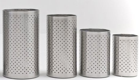 Graepel G-Line Pro FORO QUADRO Papierkörbe aus Edelstahl 1.4016, 4 Größen