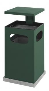 Ascher-Papierkorb mit abnehmbarem Dach 80 Liter