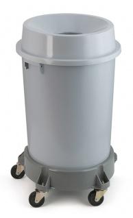 Kunststoff Abfallbehälter mit offenem Oberteil, 90 Liter Grau