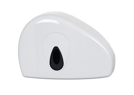 PlastiQline Mini Groß Rollenhalter mit Rest Rolle aus weißem Kunststoff zur Wandmontage - Vorschau
