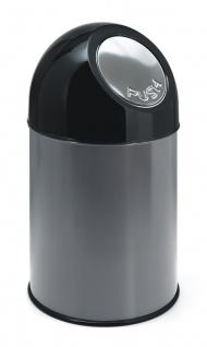 Abfallbehälter mit Druckdeckel und Inneneimer 30 Liter