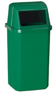 Rossignol Proximi Abfallbehälter 23L zur Wandmontage aus Polypropylen mit UV-Absorber