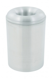 Selbstlöschender Papierkorb aus Aluminium 13 Liter Aluminium