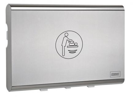 Mediclinics Wickeltisch CP0016HCS horizontal Biocote®-Schutz Kunststoff Edelstahl Frontplatte